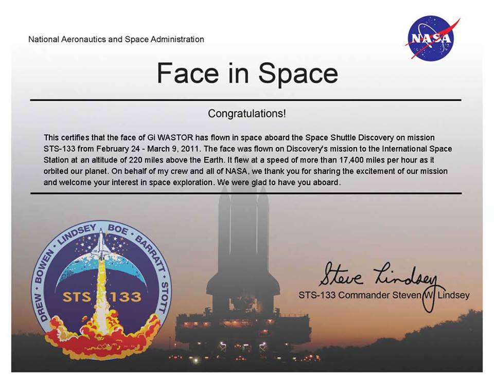 NASA Face in Space