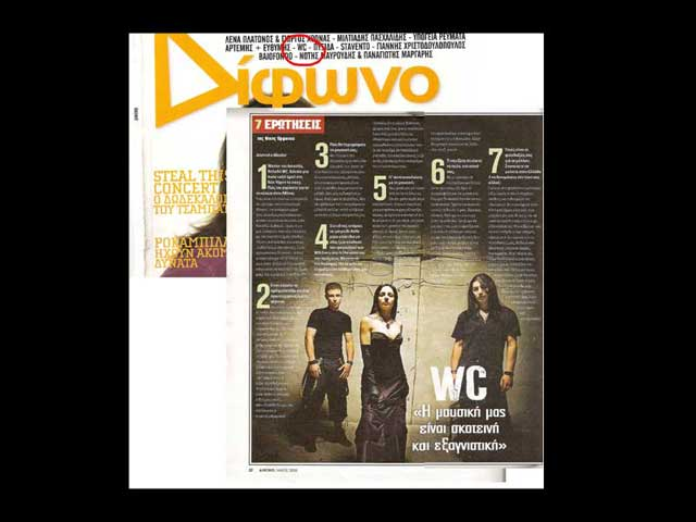 "George Wastor on ""Difono"" magazine"